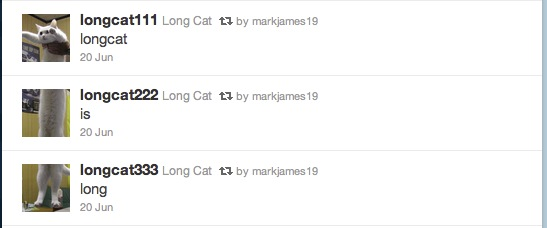 "An image of the ""Longcat is Long"" tweets"